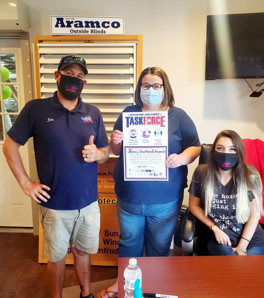 John's Shutters and Aramco Pledge